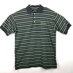 Titleist Footjoy Golf Polo Shirt Medium Black Logo